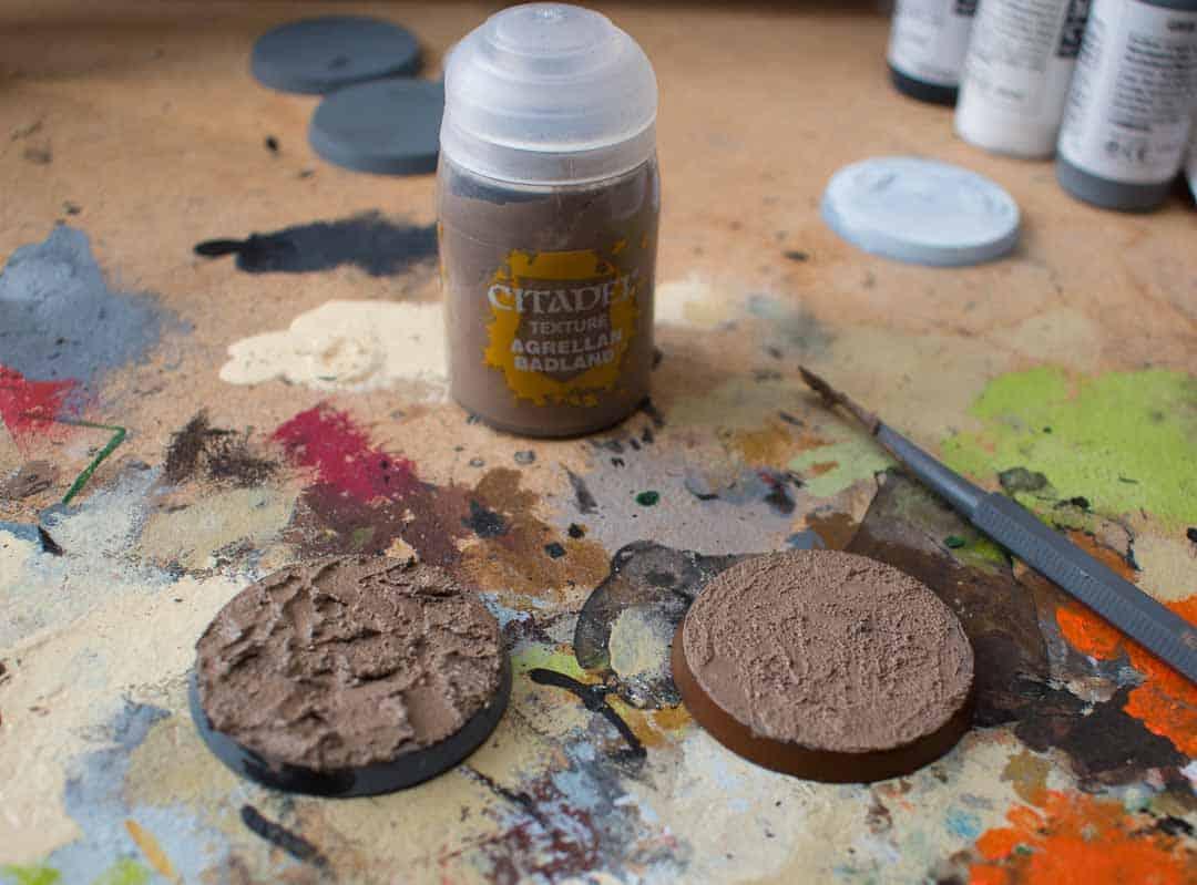 Image of Agrellan Badland Citadel texture paint when still wet