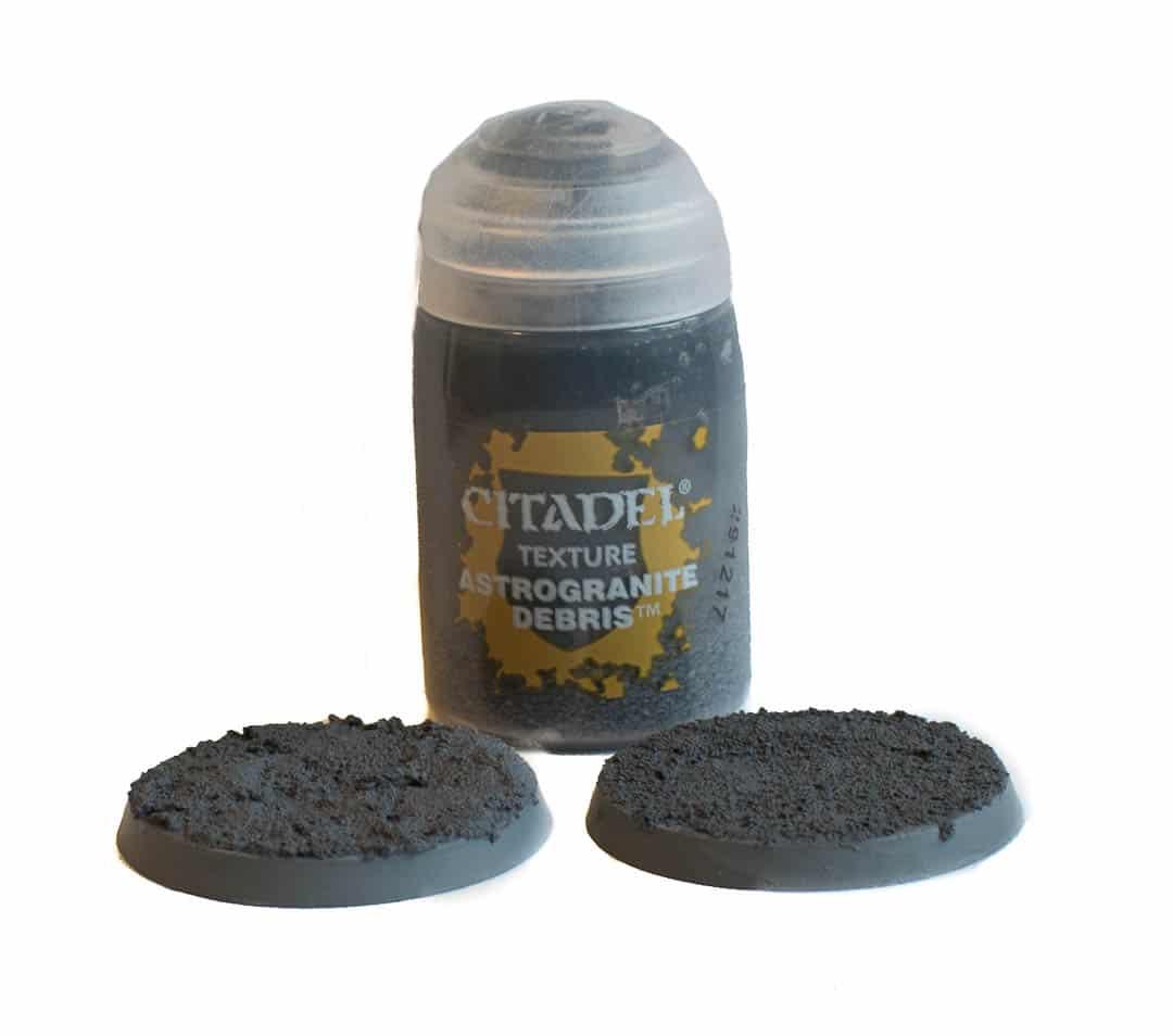 Astrogranite Debris texture paints after it has dried