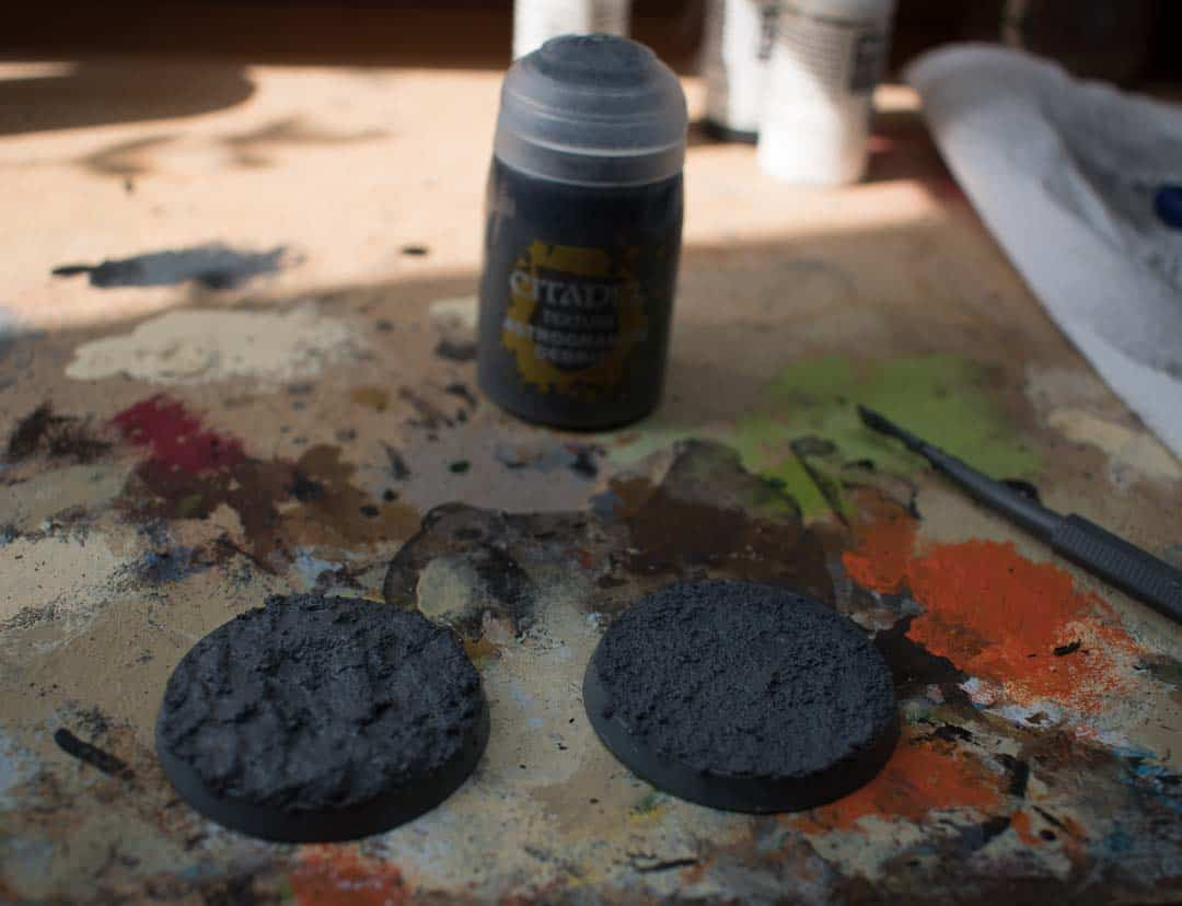 Astrogranite Debris Texture paint before it dries