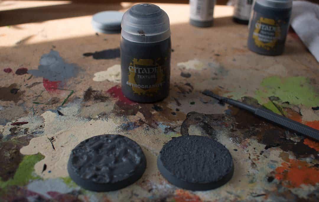 Image of Astrogranite Citadel texture paint when still wet