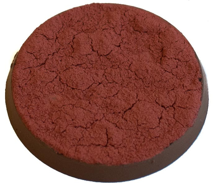 Image of Martian Ironcrust texture paint when in a thick version seen angled