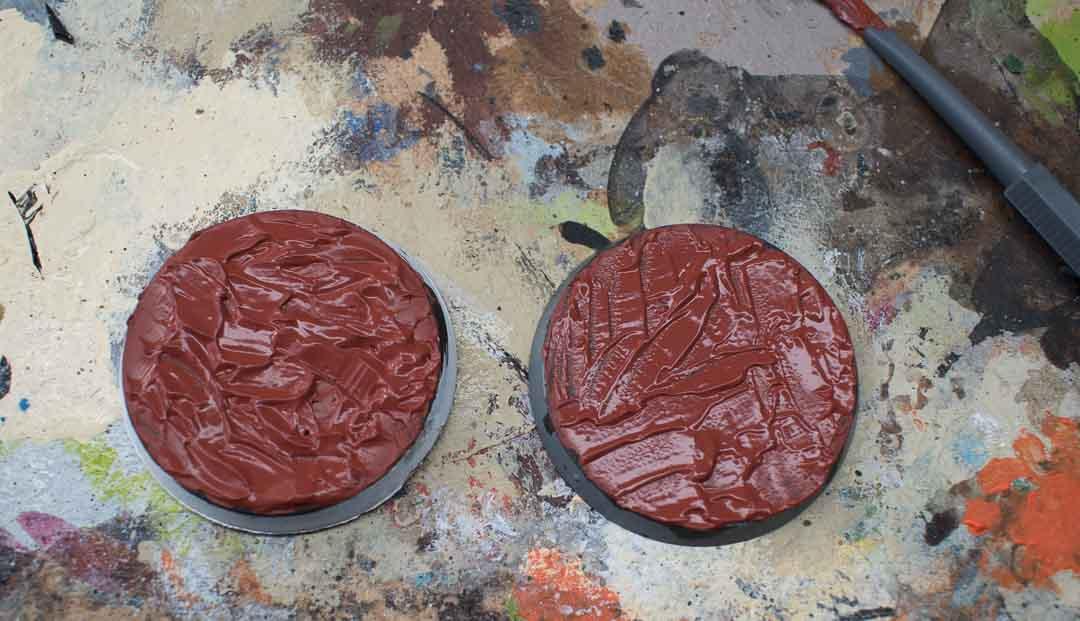 Image of Martian Ironcrust Citadel texture paint when still wet