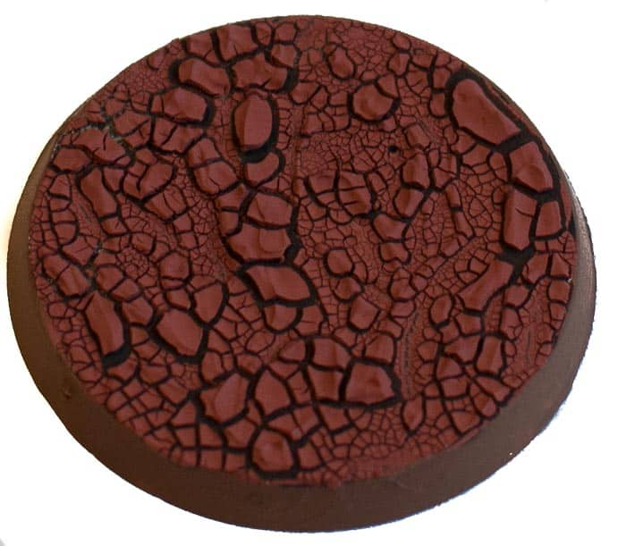 Image of Martian Ironearth texture paint when in a thick version seen angled