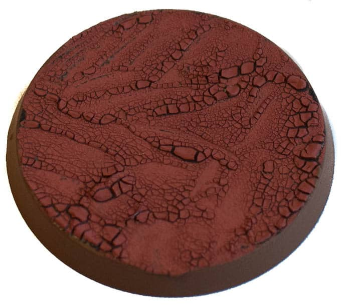 Image of Martian Ironearth texture paint when in a thin version seen angled