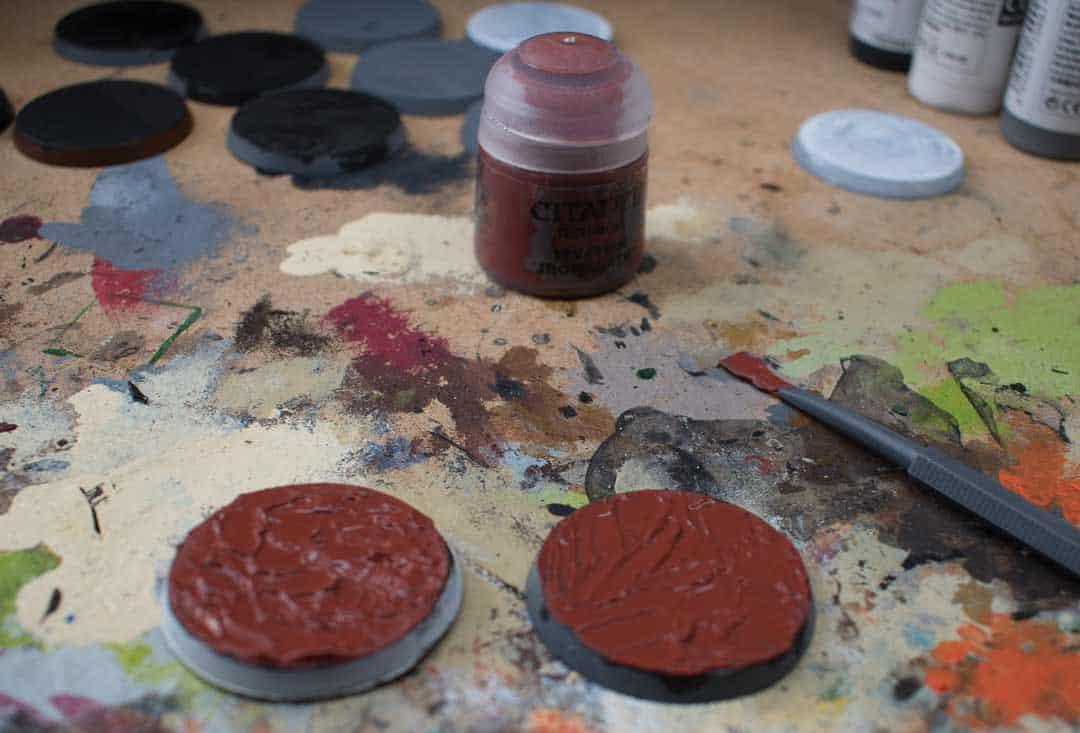 Image of Martian Ironearth Citadel texture paint when still wet