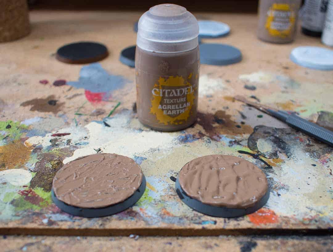 Image of Agrellan earth Citadel texture paint when still wet