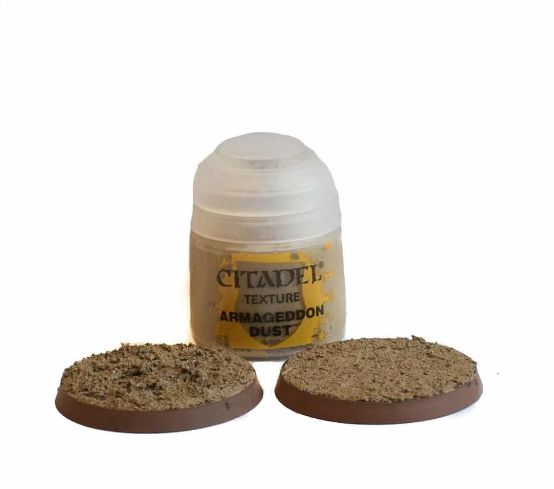 Image of Armageddon Dust Citadel texture paint when dry