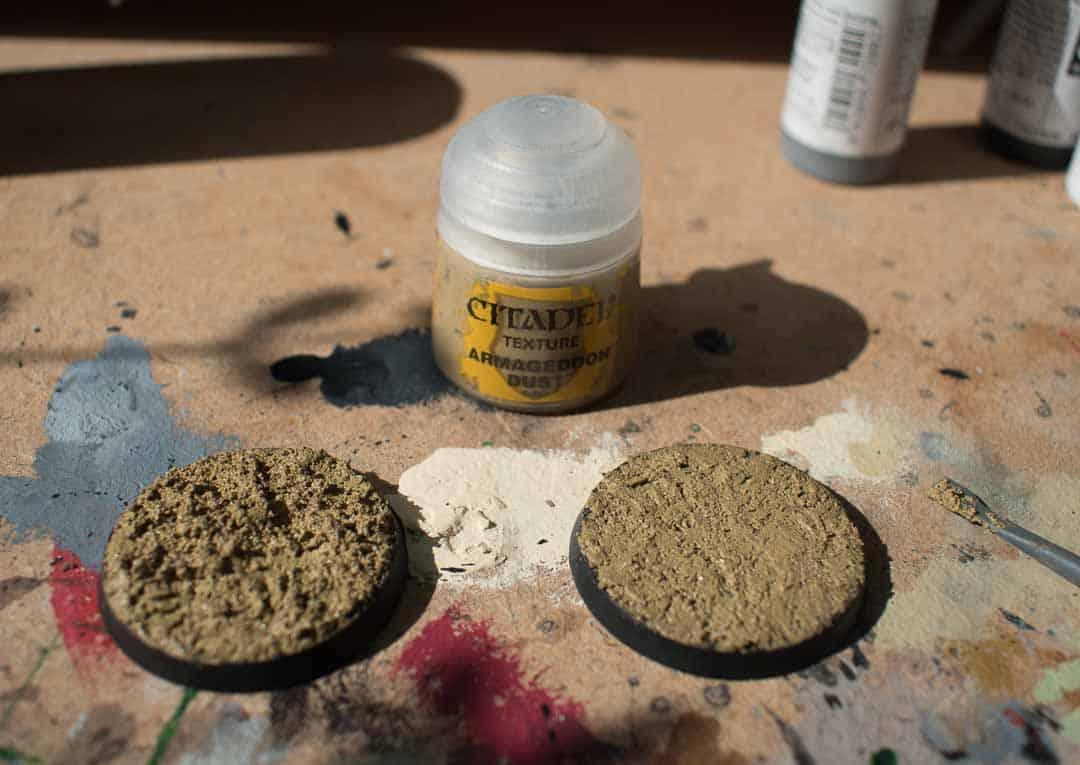 Image of Armageddon Dust Citadel texture paint when still wet