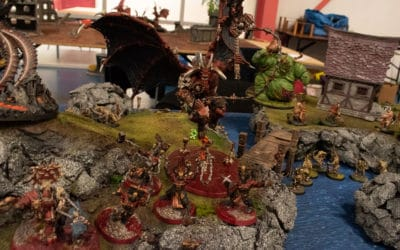 Overview of result from Aroscon 2018 (12-man AoS tournament)