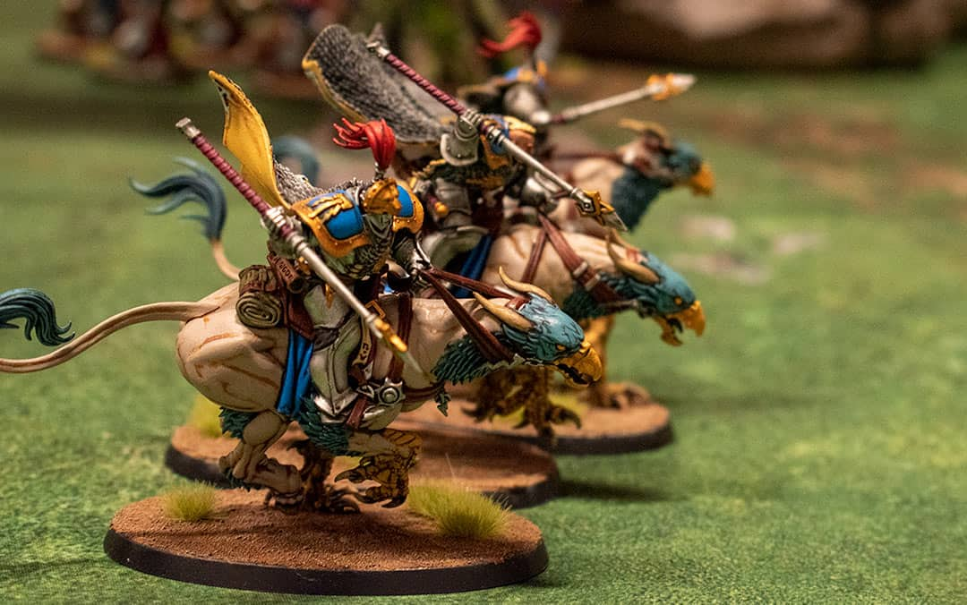 Stormcast eternals on gryph
