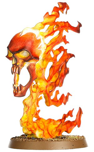 A picture of the Endless Spell The Burning Head from the Malign Sorcery expansion for Age of Sigmar 2.0