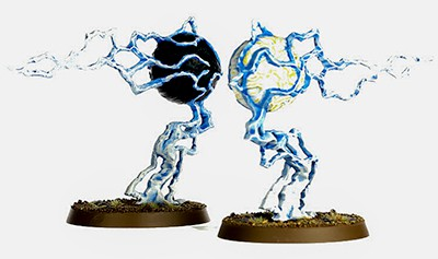 A picture of the Endless Spell Geminids of Uhl-Gysh from the Malign Sorcery expansion for Age of Sigmar 2.0