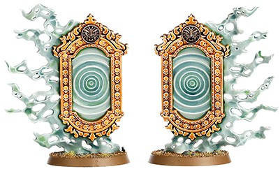 A picture of the Endless Spell Umbral Spellportal from the Malign Sorcery expansion for Age of Sigmar 2.0