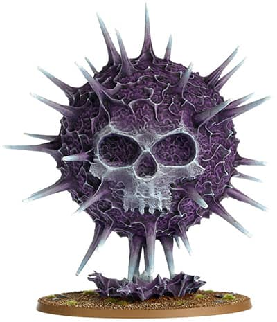 A picture of the Endless Spell Purple Sun from the Malign Sorcery expansion for Age of Sigmar 2.0