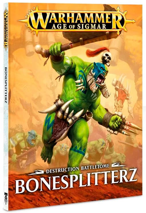 The Battletome for the Bonesplitterz faction