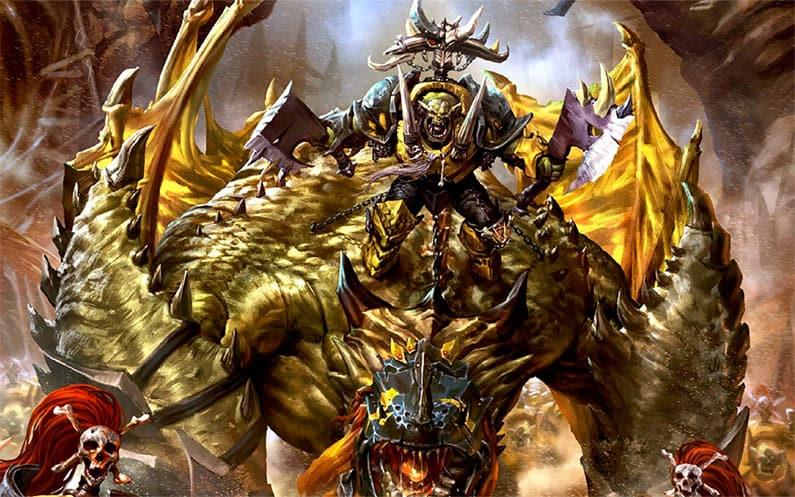 Gordrak the Fist of Gork flexing