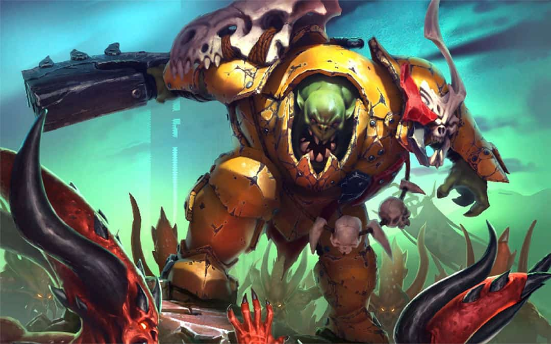 Image of a Brute Boss. Used as image in Destruction faction and army guide for the Ironjawz