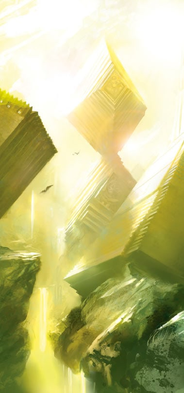 Light stuff from the realm of light. The image is used as part of a rundown of the artefacts in Malign Sorcery.