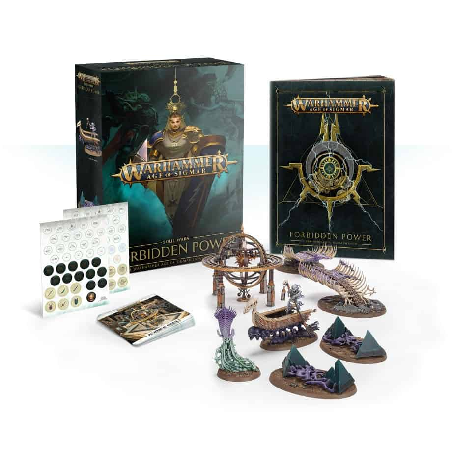 The Content of the Age of Sigmar expansion Soul Wars: Forbidden Power