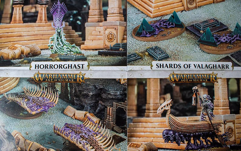 The four new warscroll cards for the four new endless spells in Soul Wars: Forbidden Power
