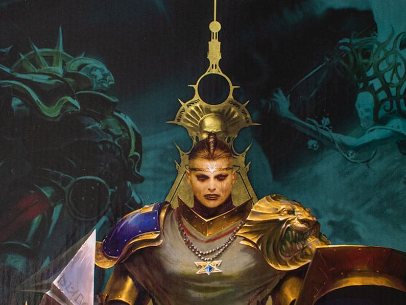 A cool looking Stormcast Eternal lady