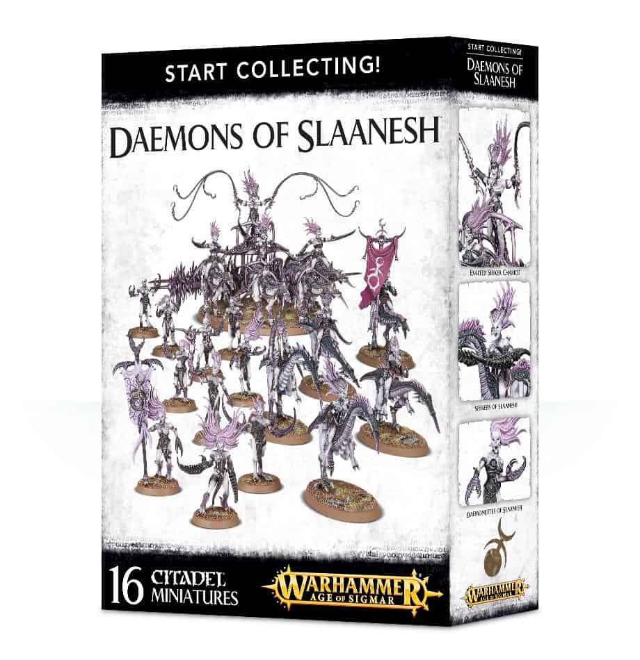 A picture of the Age of Sigmar Start Collecting box for Slaanesh Daemons