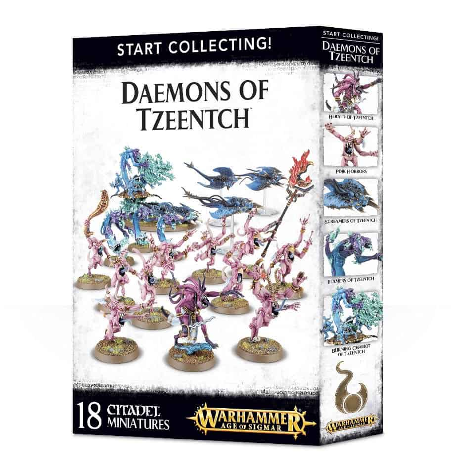 Review of the Start Collecting box for Daemons of Tzeentch