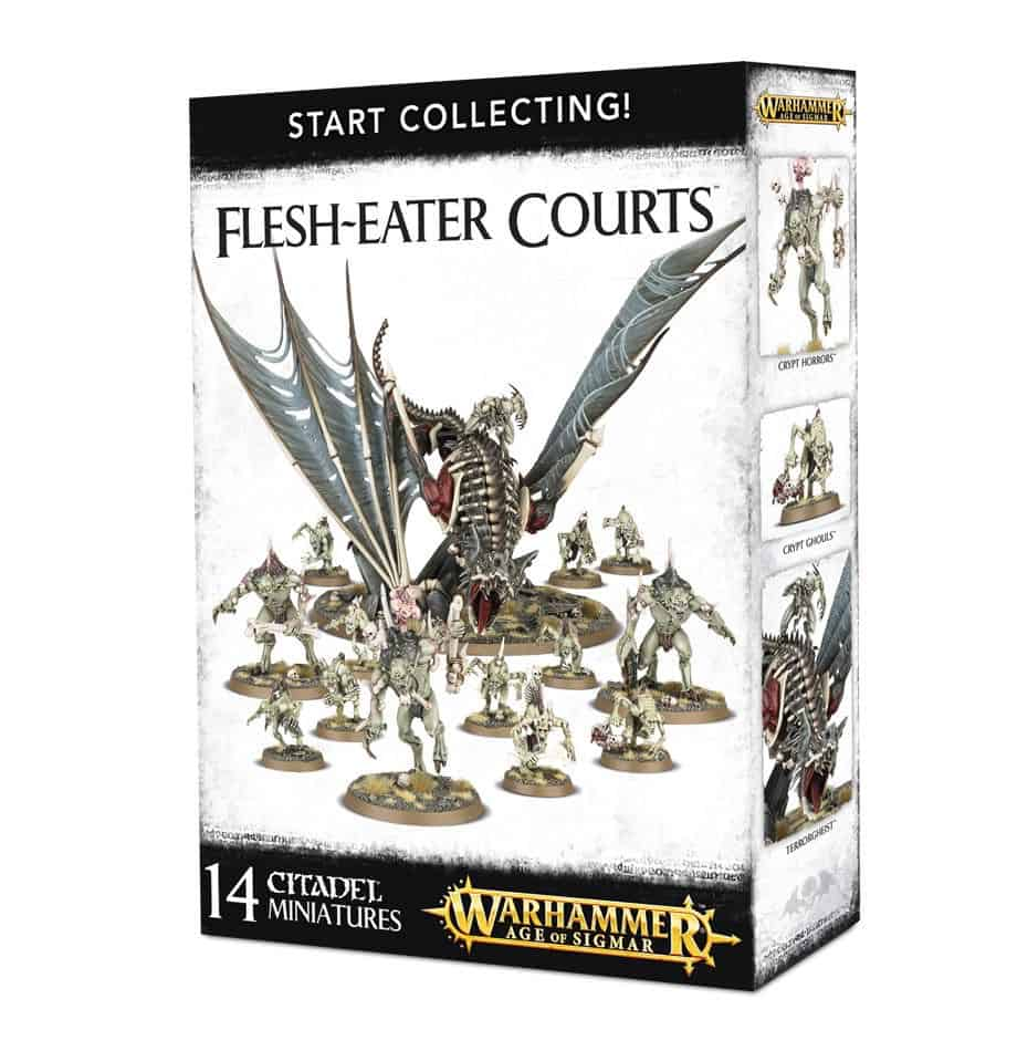 A picture of the Age of Sigmar Start Collecting box for Flesh-Eater Courts