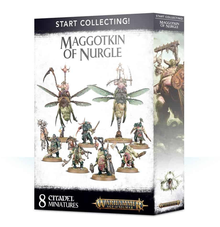 A picture of the Age of Sigmar Start Collecting box for Nurgle Daemons