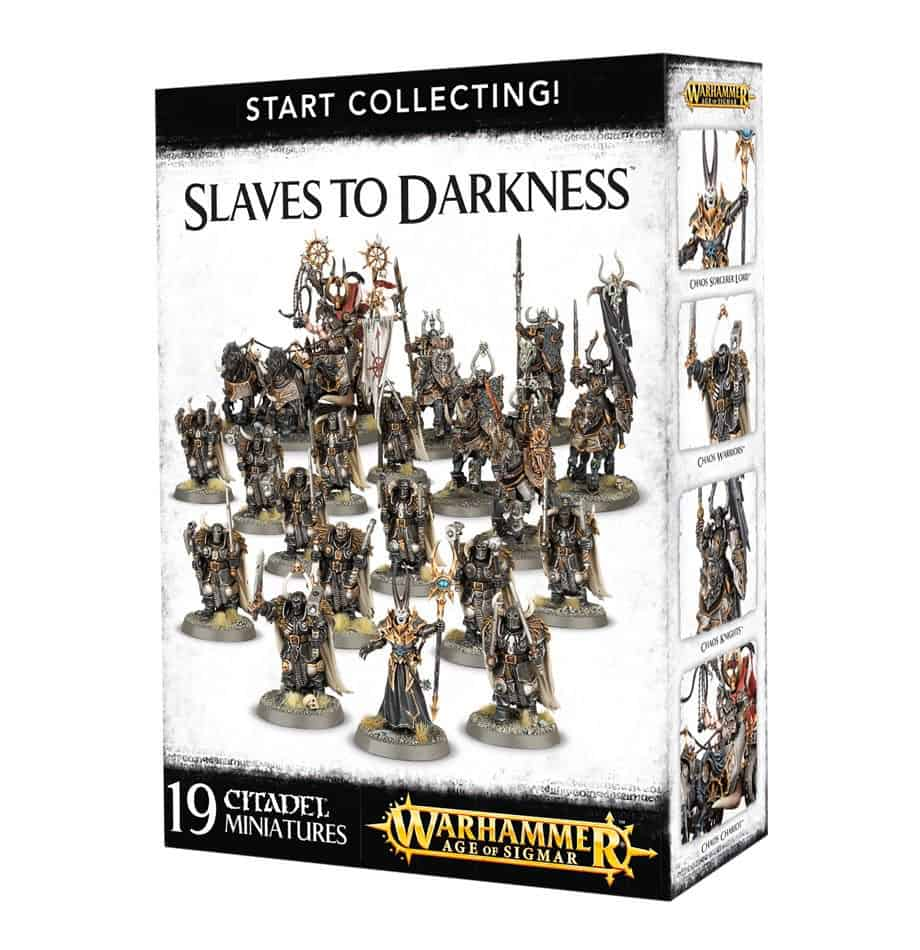 A picture of the Age of Sigmar Start Collecting box for Slaves to Darkness
