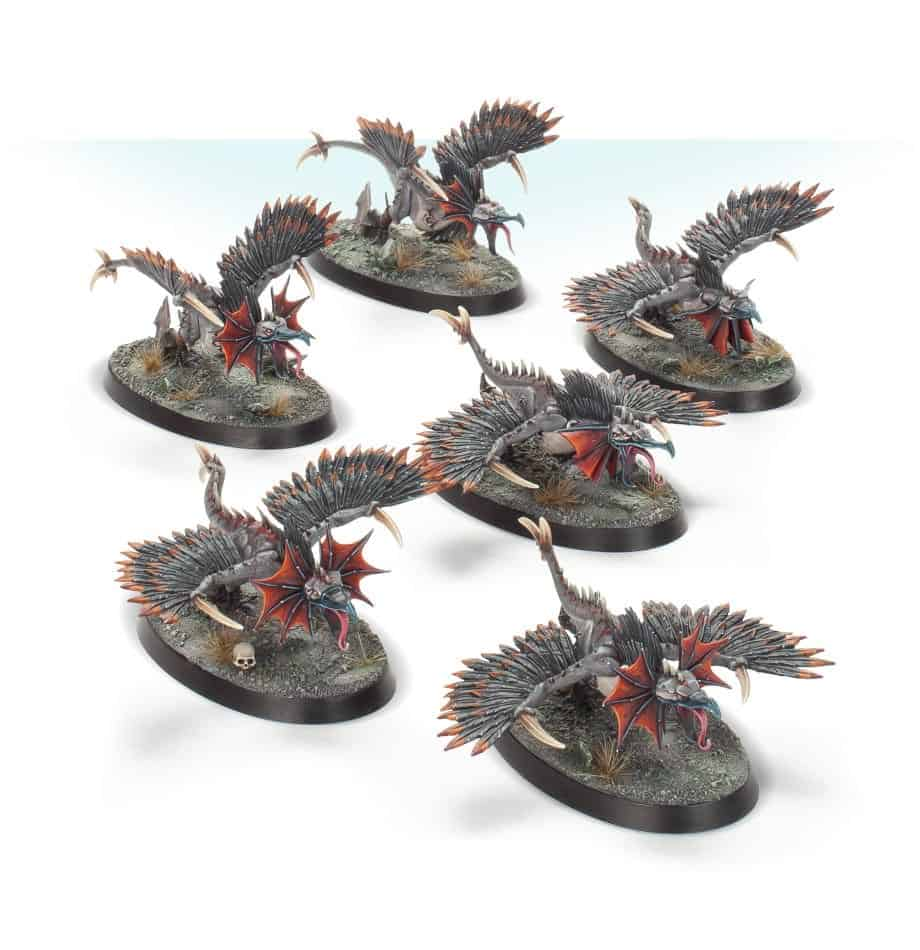 The Raptoryx miniatures in warcry starter set