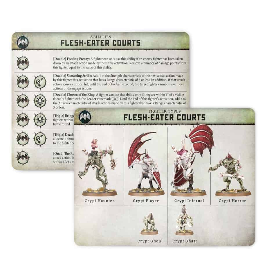 Ability card for the Flesh-Eater Courts Warband in Warcry