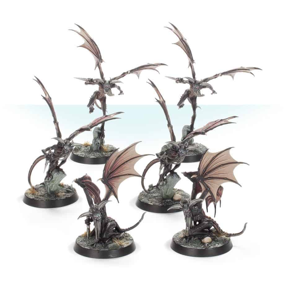 Miniatures for the Furies in the Warcry Starter set