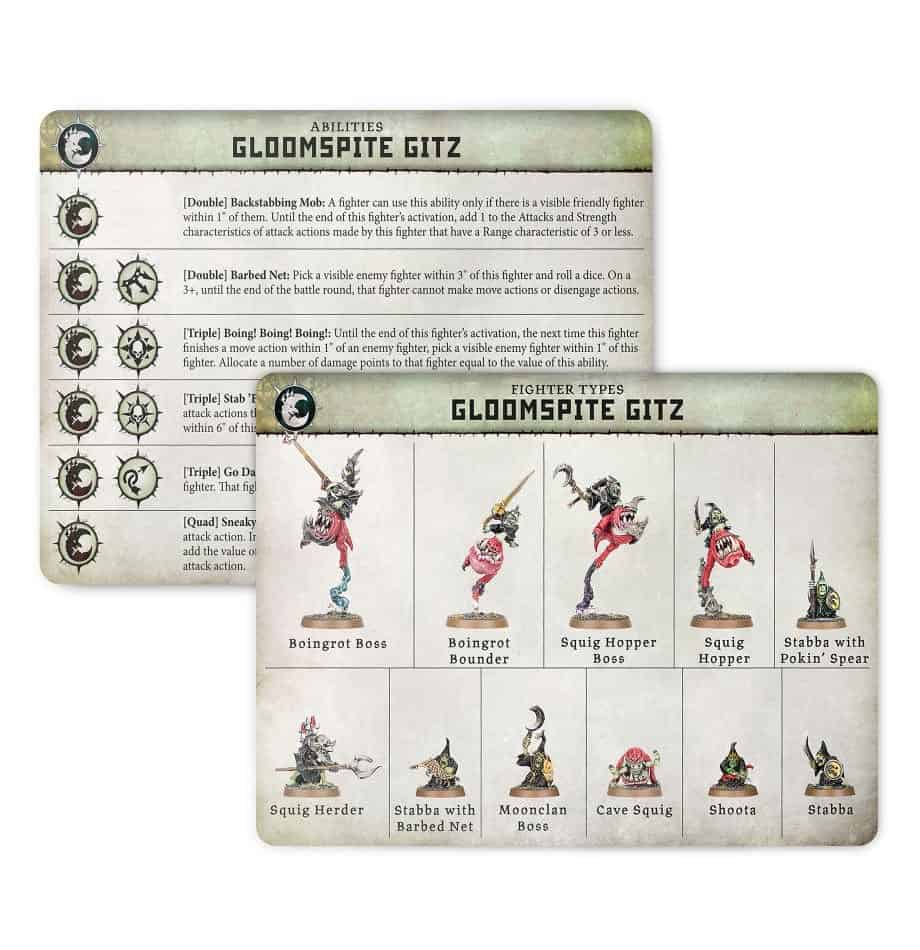 Ability card for the Gloomspite Gitz Warband in Warcry