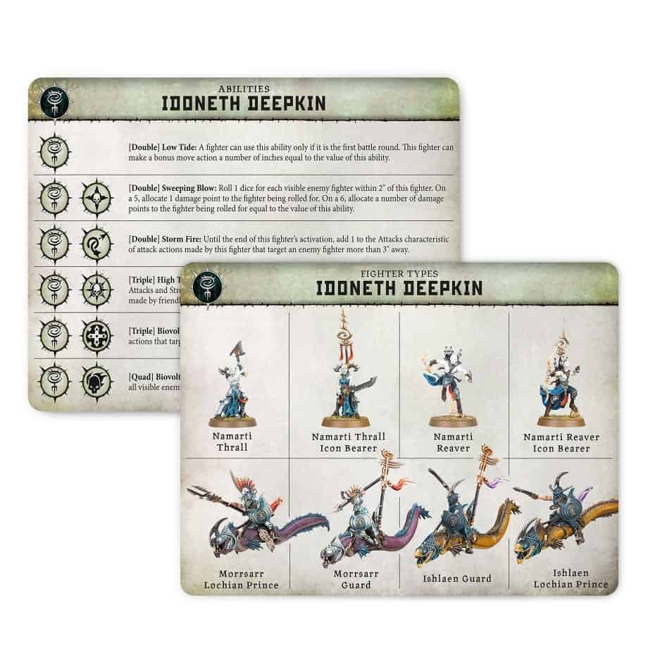 Ability card for the Idoneth Deepkin Warband in Warcry