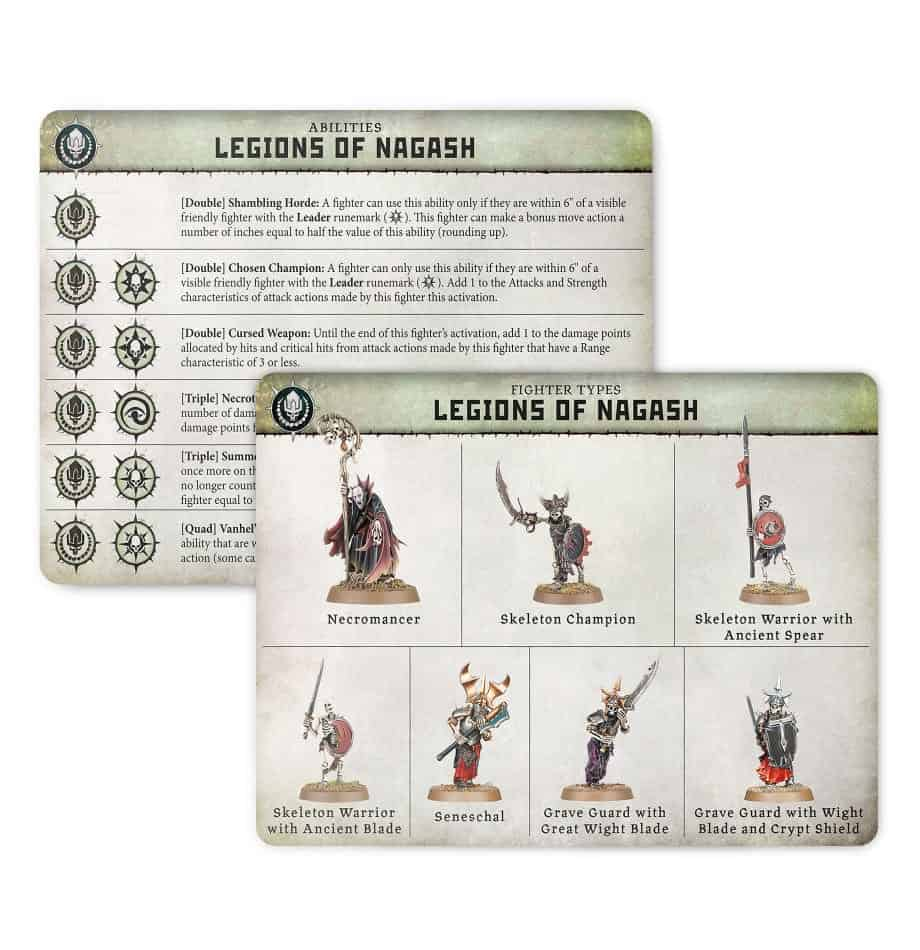 Ability card for the Legions of Nagash Warband in Warcry
