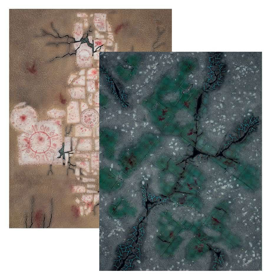 The foldable map for Warcry starter set