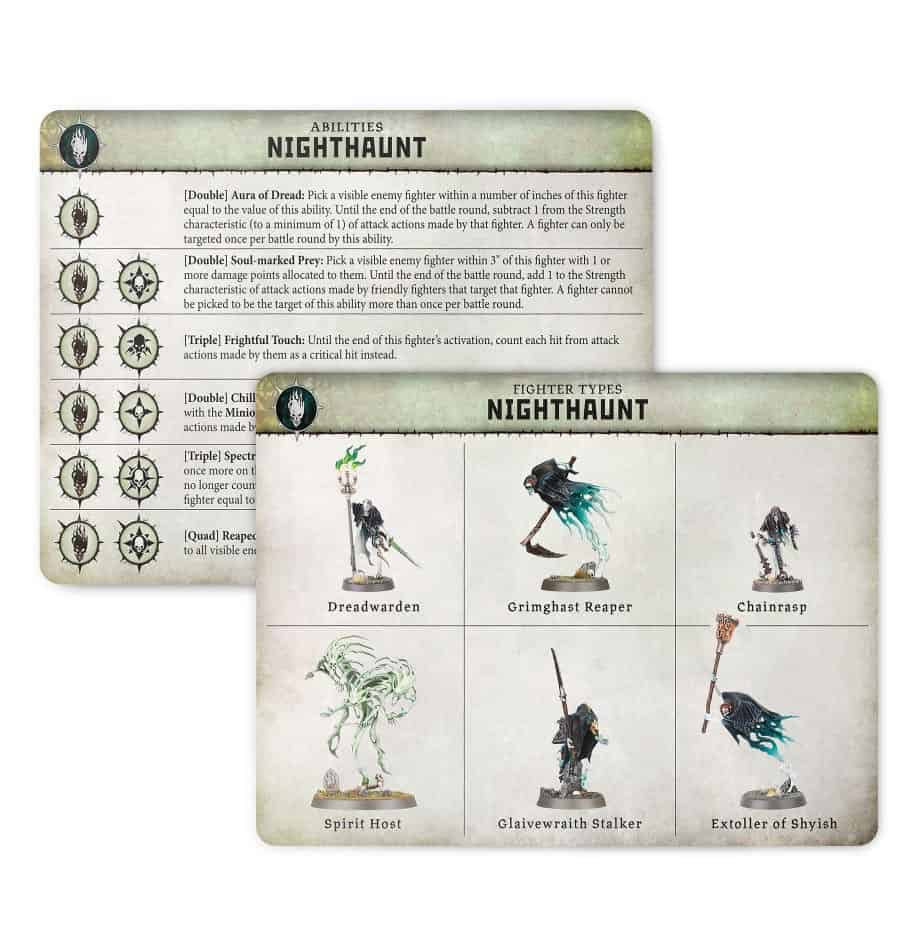 Ability card for the Nighthaunt Warband in Warcry