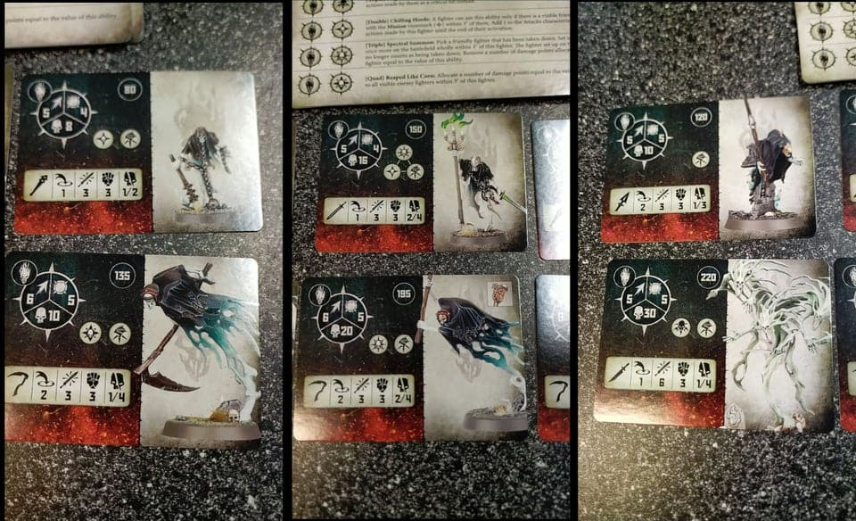 Fighter Card for the Nighthaunt Eternals Warband in Warcry