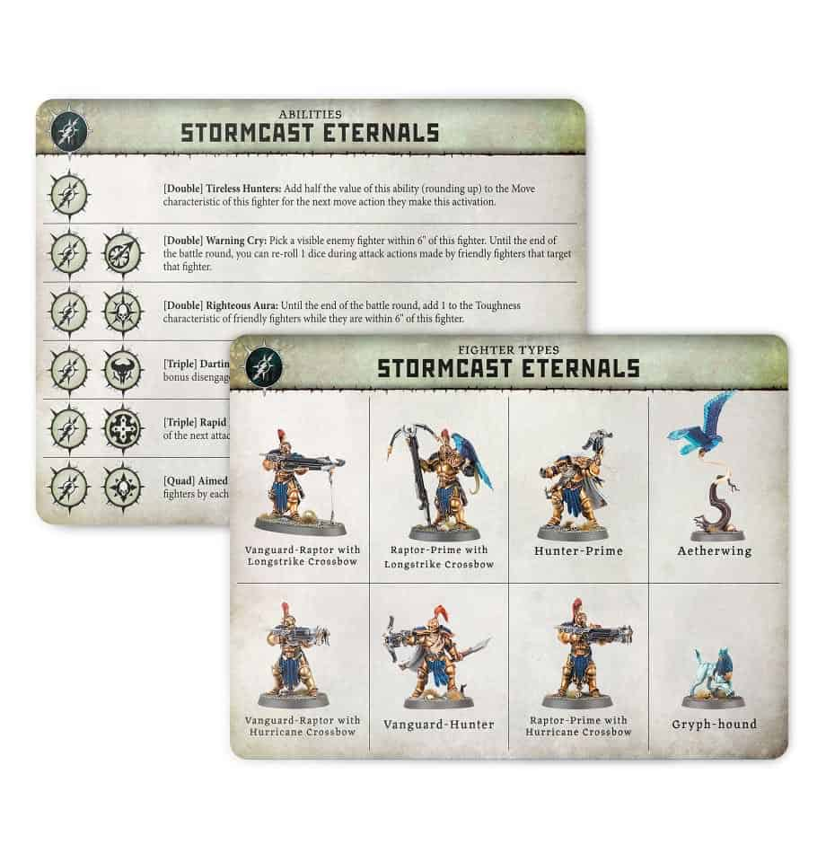 Ability card for the Stormcast Eternals Warband in Warcry