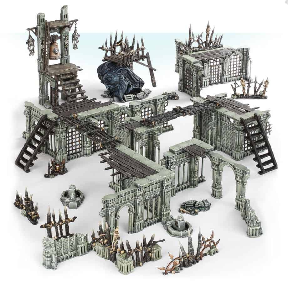The Terrain included in the starter set for Warcry