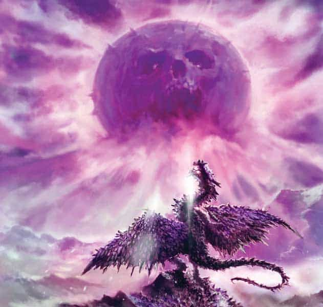 The Bad Moon being purple and evil