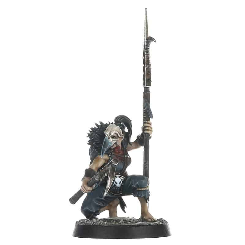 Cabalist with Spear for the Corvus Cabal Warcry Warband