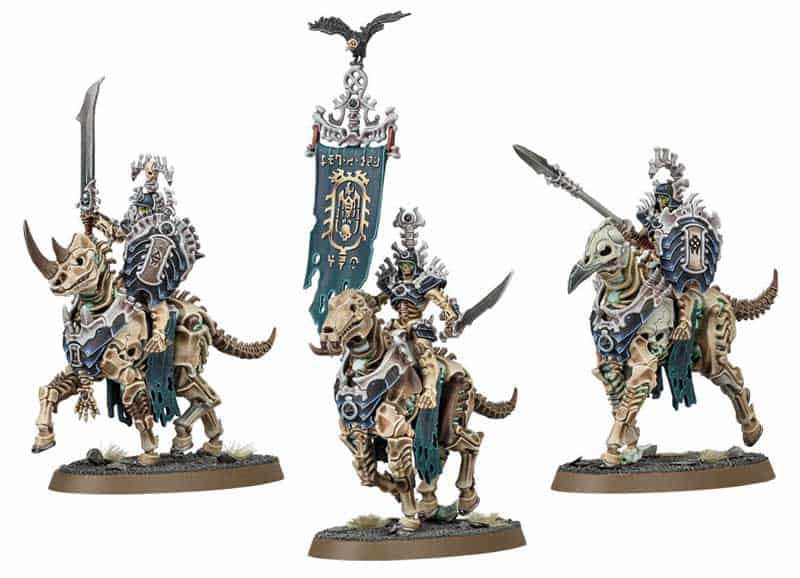 The Kavalos Deathtriders  in the upcoming Ossiarch Bonereapers Death release for Age of Sigmar
