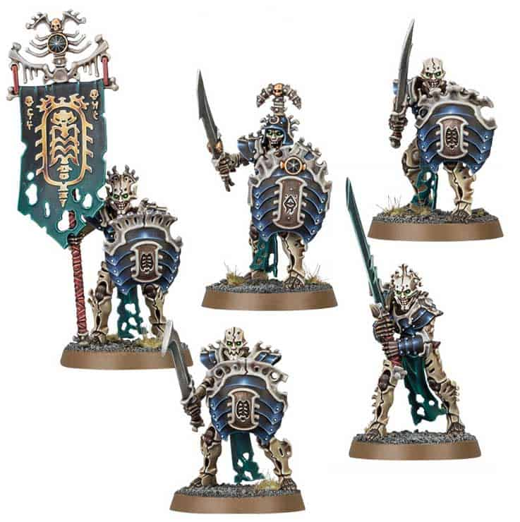 The Mortek Guard in the upcoming Ossiarch Bonereapers Death release for Age of Sigmar