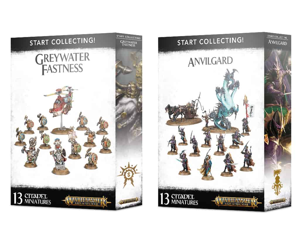 Two new Start Collecting Boxes for Cities of Sigmar - Greywater Fastness and Anvilgard