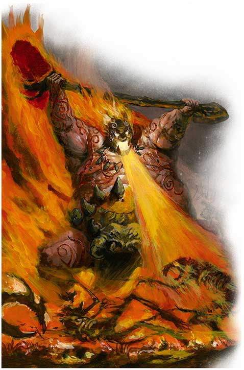 Artwork for the firebelly in Mawtribes Ogors