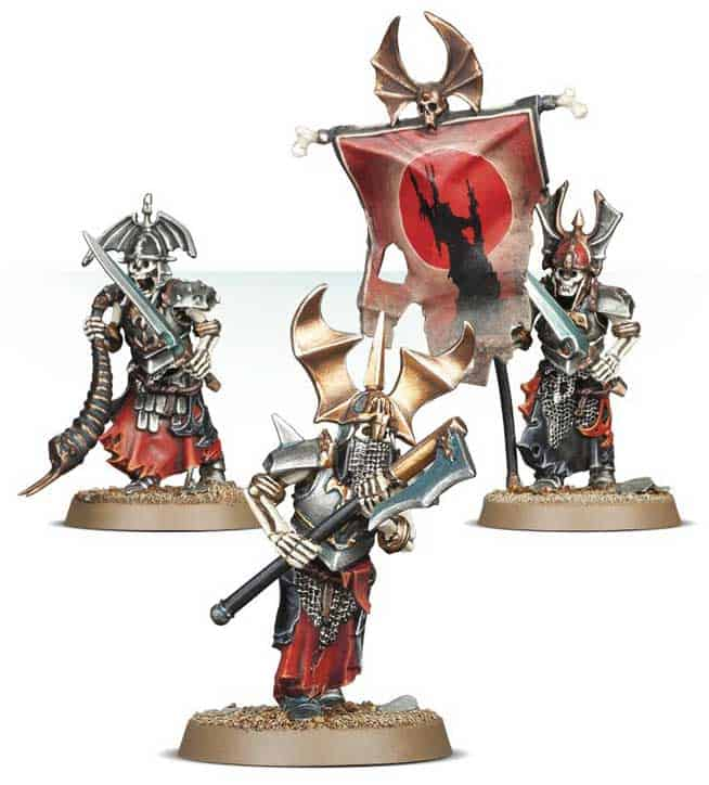 Seneschal and other Grave Guards ofr the Legions of Nagash Warcry Warband