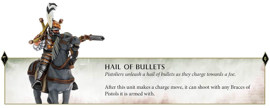 Unit ability for the Pistoliers in Cities of Sigmar