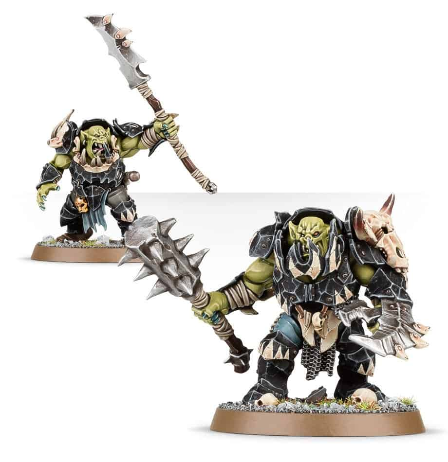 A Brute Boss with Boss Klaw and Smasha for the Ironjawz Warcry Warband